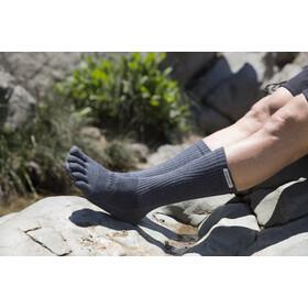 Injinji Trail Crew Xtralife Hardloopsokken Heren, granite